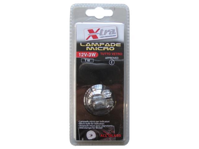 Żarówka samochodowa halogenowa Micro X-Tra 12V-3W+30% Light Xextra