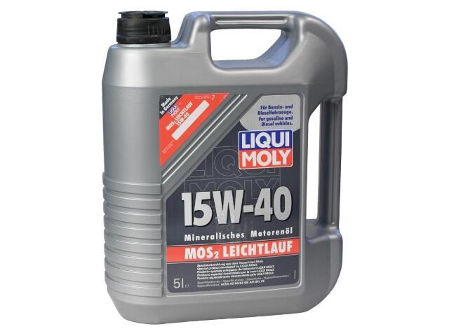 Olej silnikowy mineralny MoS2 Leichtlauf Super Motoroil 15W-40 5l 2571 Liqui Moly