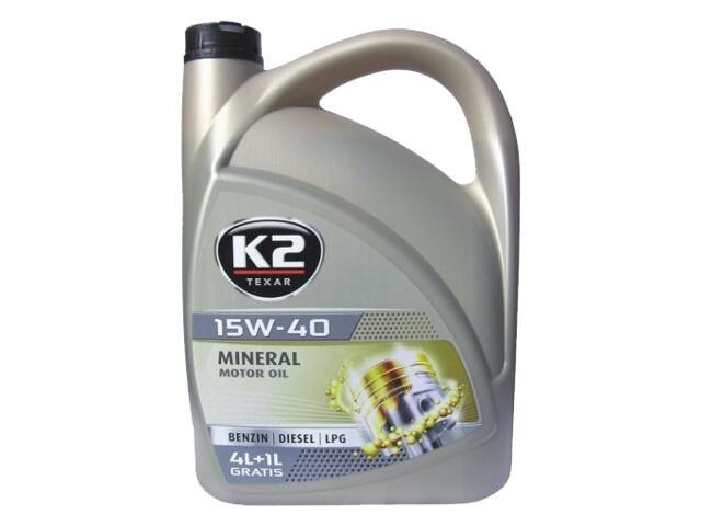 Olej silnikowy mineralny K2 TEXAR BDL 15W-40 5l