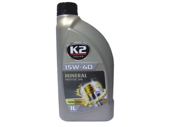 Olej silnikowy mineralny K2 TEXAR TD 15W-40 1l