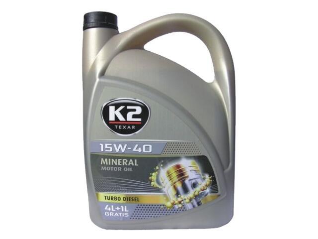 Olej silnikowy mineralny K2 TEXAR TD 15W-40 5l