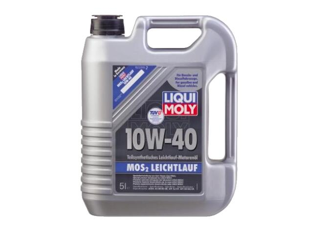 Olej silnikowy półsyntetyczny MoS2 Leichtlauf Super Motoroil 10W-40 5l 2184 Liqui Moly