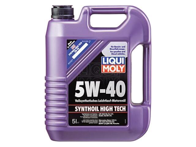 Olej silnikowy syntetyczny Synthoil High Tech 5W-40 5l 1925/1307 Liqui Moly