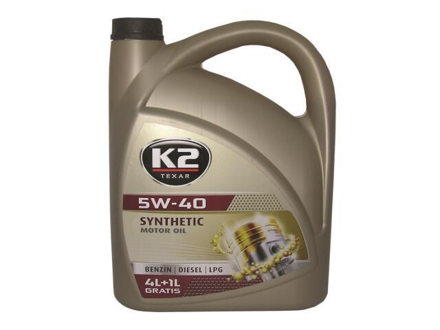Olej silnikowy syntetyczny K2 TEXAR BDL 5W-40 5l