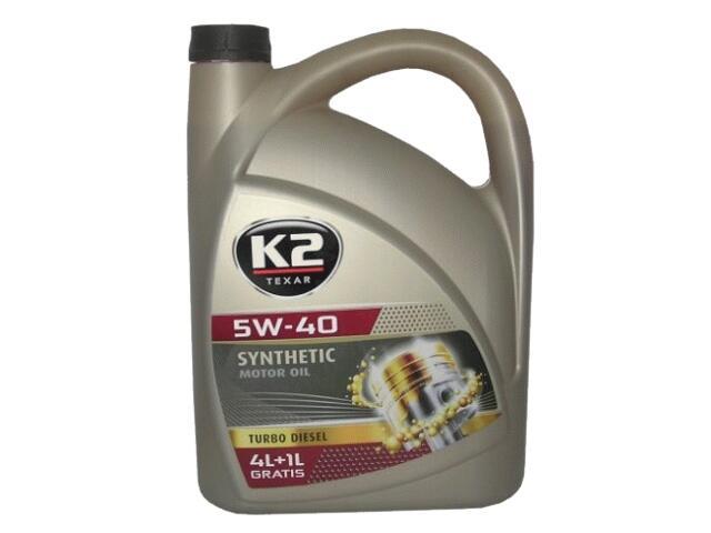 Olej silnikowy syntetyczny K2 TEXAR TD 5W-40 5l