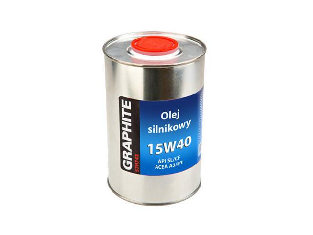 Olej do narzędzi ogrodniczych silnikowy 15W-40 1l Graphite