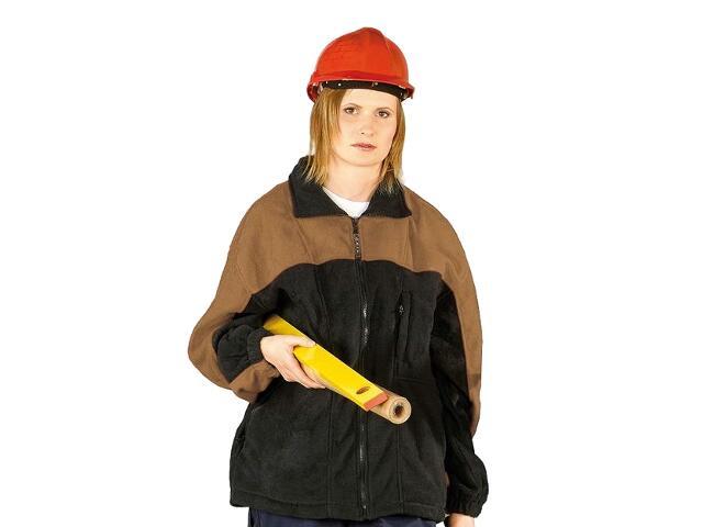 Bluza robocza z polaru POLAR-MIX GBE roz. M granatowo-beżowy REIS
