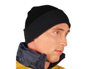 Czapka ochronna zimowa z polaru czarna CZPOL B REIS