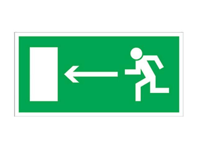 """Znak ewakuacyjny """"Kierunek do wyjścia drogi ewakuacji w lewo"""" Z-3E-FS rozm. 150x300 ANRO"""
