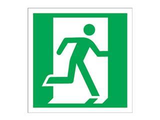 """Znak ewakuacyjny """"Drzwi ewakuacyjne lewe"""" Z-10E-FS rozm. 150x150 ANRO"""