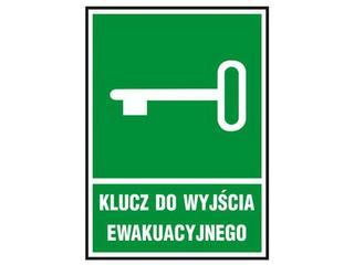 """Znak ewakuacyjny """"Klucz do wyjścia ewakuacyjnego"""" Z-21E-PT rozm. 150x205 ANRO"""