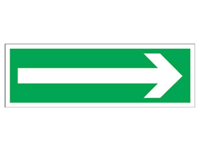 """Znak ewakuacyjny """"Kierunek do wyjścia drogi ewakuacji"""" Z-1E-LUX rozm. 100x300 ANRO"""