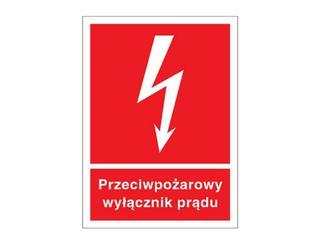 """Znak """"Przeciwpożarowy wyłącznik prądu"""" Z-31P-FS rozm. 150x205 ANRO"""