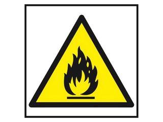 """Znak """"Niebezpieczeństwo pożaru ...""""Z-14P-FS rozm. 200x200 ANRO"""