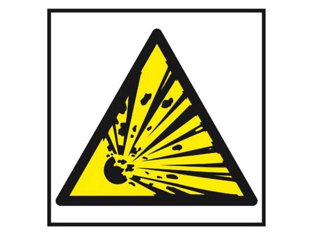 """Znak """"Niebezpieczeństwo wybuchu materiały wybuchowe""""Z-16P-PT rozm. 200x200 ANRO"""