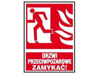 """Znak """"Drzwi przeciwpożarowe ZAMYKAĆ!"""" Z-29P-FS rozm. 150x205 ANRO"""