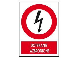 """Znak """"Dotykanie wzbronione"""" Z-6EZA-FS rozm. 74x105 ANRO"""