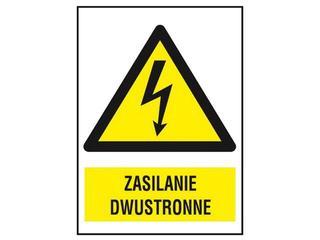 """Znak """"Zasilanie dwustronne"""" Z-7EOA-FS rozm. 74x105 ANRO"""