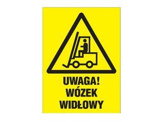 """Znak """"Uwaga! Urządzenie do transportu poziomego"""" Z-6O1-FS rozm. 220x300 ANRO"""