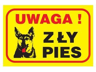 """Znak """"Uwaga zły pies"""" Z-R79-P rozm. 130x190 ANRO"""