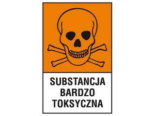 """Znak """"Substancja bardzo toksyczna"""" Z-121CH-F rozm. 200x300 ANRO"""