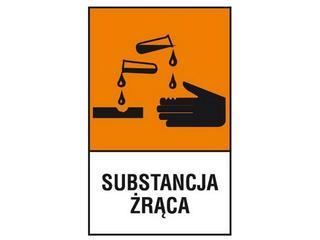 """Znak """"Substancja żrąca"""" Z-123CH-F rozm. 200x300 ANRO"""