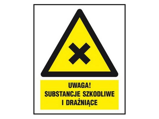 """Znak """"Uwaga! Substancje szkodliwe i drażniące"""" Z-154CH-F rozm. 220x300 ANRO"""