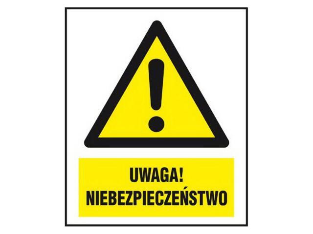 """Znak """"Uwaga! Niebezpieczeństwo"""" Z-156CH-F rozm. 220x300 ANRO"""