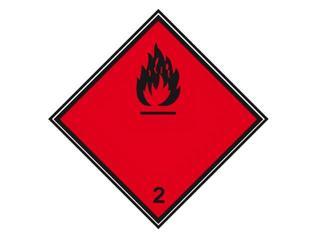 """Znak """"Materiały ciekłe zapalne"""" Z-T1-F rozm. 300x300 ANRO"""