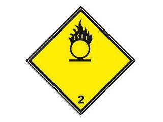 """Znak """"Materiały utleniające podtrzymujące palenie"""" Z-T5-F rozm. 300x300 ANRO"""