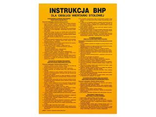"""Instrukcja ogólna """"BHP przy obsłudze wiertarki stołowej"""" Z-IBM24-P rozm. 310x420 ANRO"""