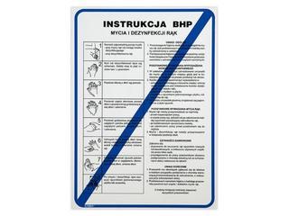 """Instrukcja ogólna """"Instrukcja mycia rąk"""" Z-IBG01-P rozm. 250x330 ANRO"""