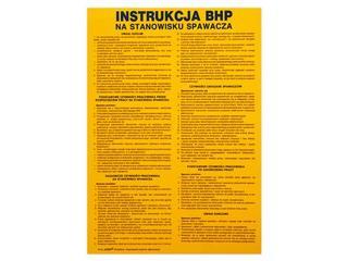 """Obróbka metali - instrukcja BHP """"BHP na stanowisku spawacza"""" Z-IBM07-P rozm. 330x460 ANRO"""