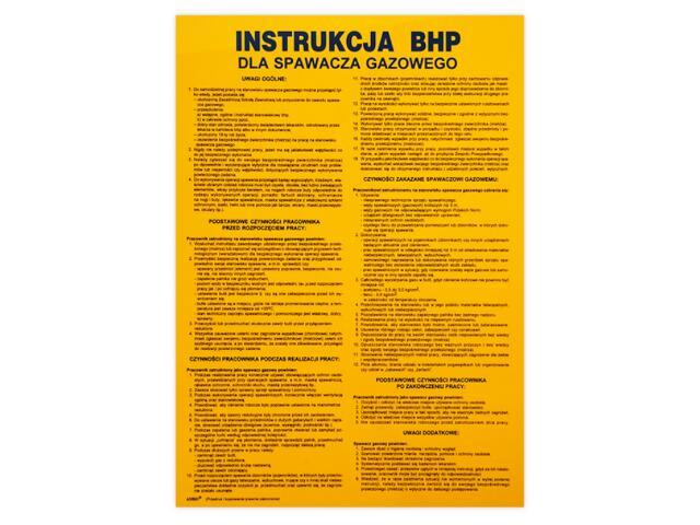 """Obróbka metali - instrukcja BHP """"BHP dla spawacza gazowego"""" Z-IBM08-P rozm. 330x460 ANRO"""