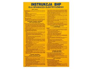 """Obróbka metali - instrukcja BHP """"BHP dla spawacza elektrycznego"""" Z-IBM09-P rozm. 330x460 ANRO"""
