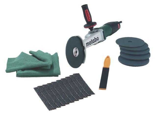 Szlifierka kątowa czołowa KNSE 12-150 Set z walizką metalową Metabo
