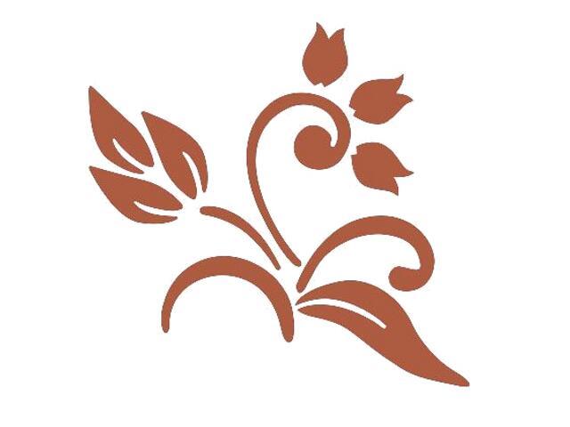 Naklejka dekoracyjna welurowa kwiaty 675000-2 Klimaty Domu