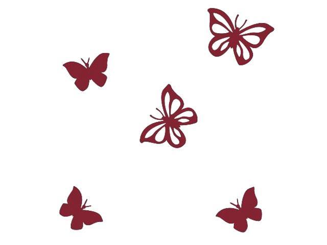 Naklejka dekoracyjna welurowa motyle 675001-11 Klimaty Domu
