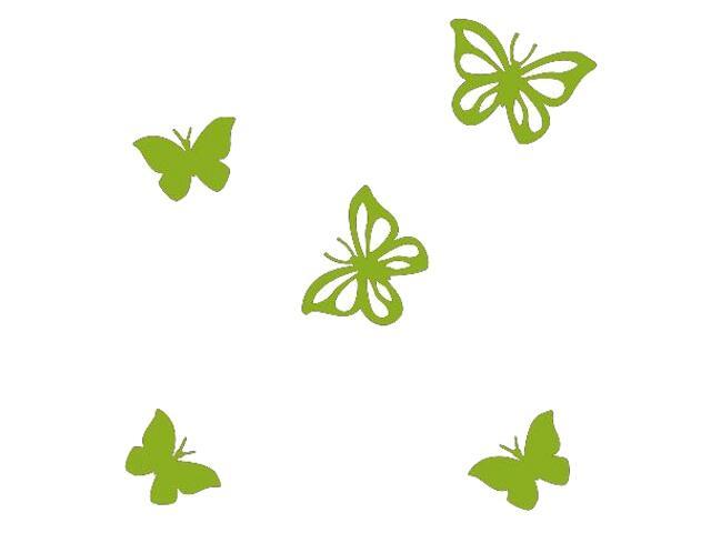 Naklejka dekoracyjna welurowa motyle 675001-5 Klimaty Domu