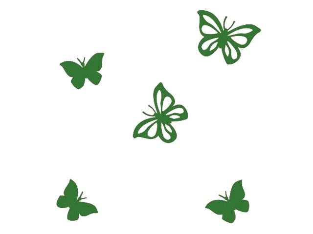 Naklejka dekoracyjna welurowa motyle 675001-9 Klimaty Domu