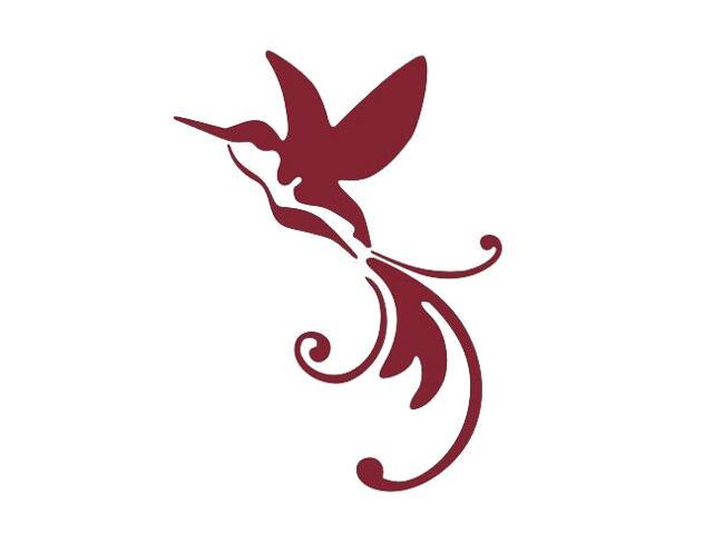 Naklejka dekoracyjna welurowa ptak 675002-11 Klimaty Domu
