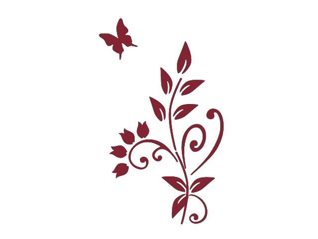 Naklejka dekoracyjna welurowa roślina 675003-11 Klimaty Domu