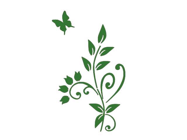 Naklejka dekoracyjna welurowa roślina 675003-9 Klimaty Domu