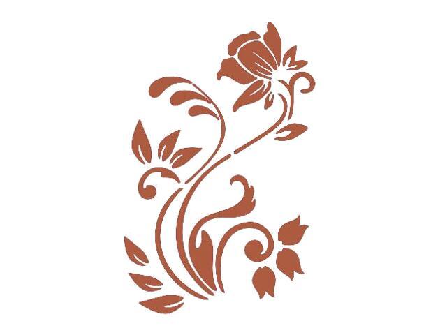 Naklejka dekoracyjna welurowa roślina 675004-2 Klimaty Domu