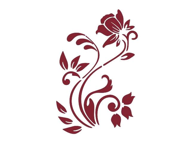 Naklejka dekoracyjna welurowa roślina 675004-11 Klimaty Domu