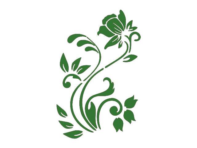 Naklejka dekoracyjna welurowa roślina 675004-9 Klimaty Domu