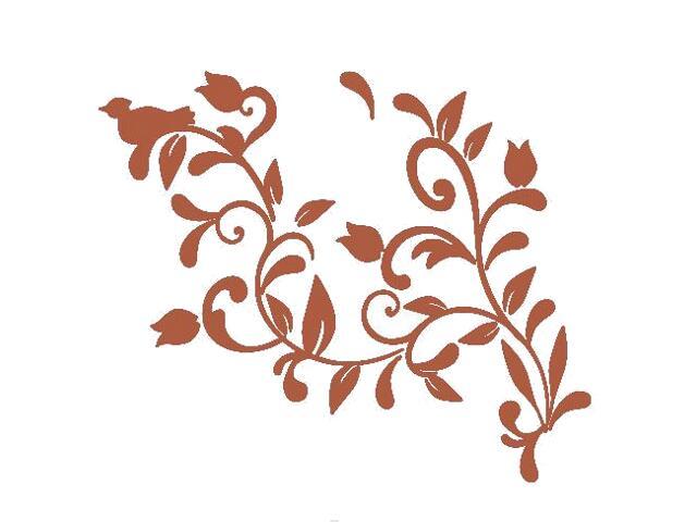 Naklejka dekoracyjna welurowa roślina 675005-2 Klimaty Domu