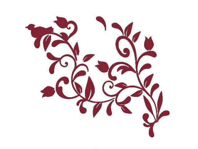 Naklejka dekoracyjna welurowa roślina 675005-11 Klimaty Domu