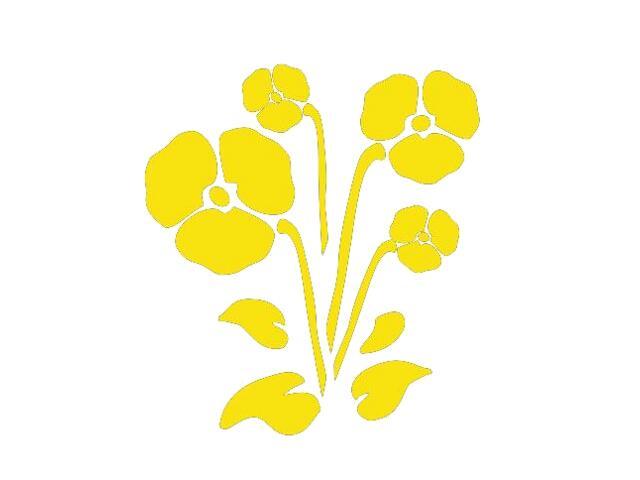 Naklejka dekoracyjna welurowa kwiaty 675006-3 Klimaty Domu