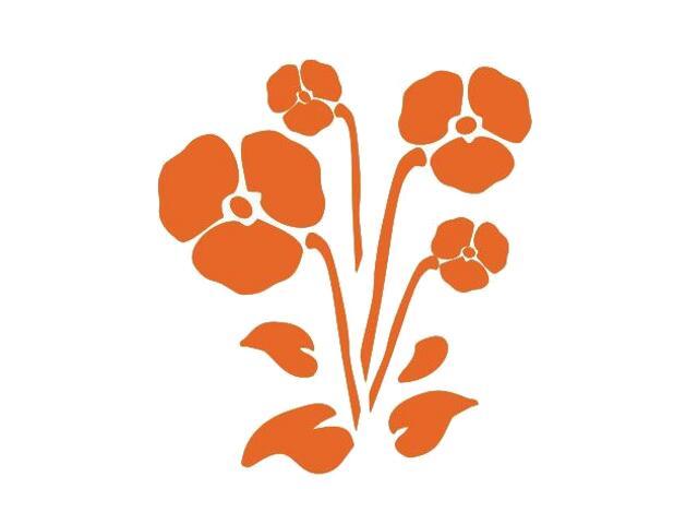 Naklejka dekoracyjna welurowa kwiaty 675006-1 Klimaty Domu